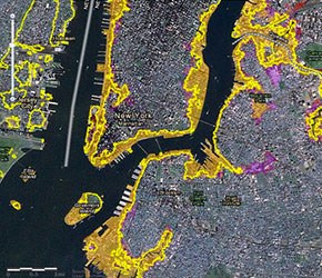 Maps Superstorm Research Lab - New york city elevation map