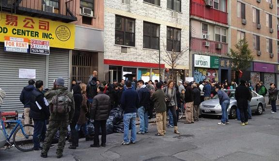 Image from CAAAV office hours after Hurricane Sandy.